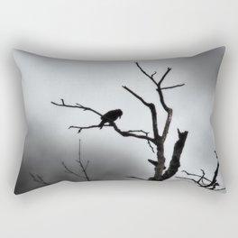 Solitary Crow Rectangular Pillow