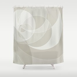Golden Ratio, Neutral Circles Grid Abstract Shower Curtain