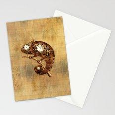 Steampunk Chameleon Vintage Style Stationery Cards