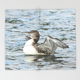 Baby loon all grown up Throw Blanket