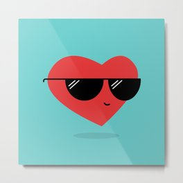Cool Heart Metal Print
