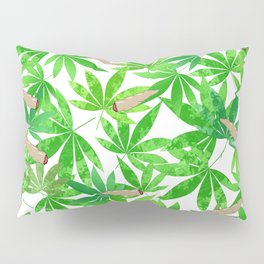 Green Weed Pillow Sham