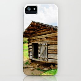 Historic Log Cabin iPhone Case