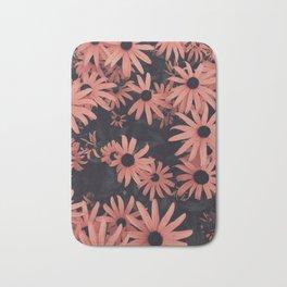 Peach SunFlowers Bath Mat