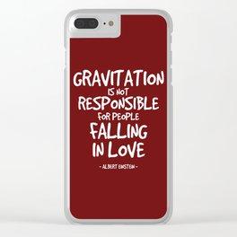 Falling in Love Quote - Albert Einstein Clear iPhone Case