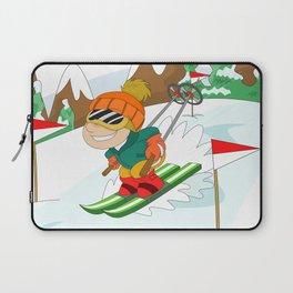 Winter Sports: Skiing Laptop Sleeve