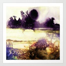 Firefly Meadow Art Print