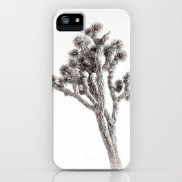 Joshua Tree in Black & White iPhone Case