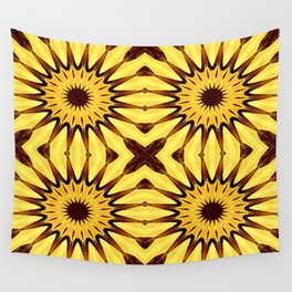 Sunflowers Yellow & Brown Pinwheel Flowers Wall Tapestry