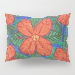Luau Flower Print Pillow Sham