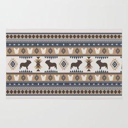 Boho dogs | French bulldog tan Rug