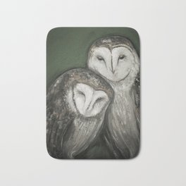 Barn Owls Bath Mat