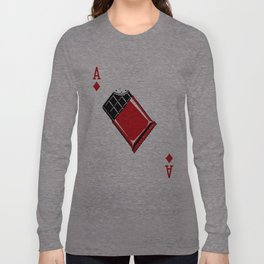 Delicious Deck: The Ace of Diamonds Long Sleeve T-shirt