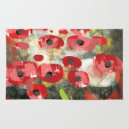 angela's poppies Rug