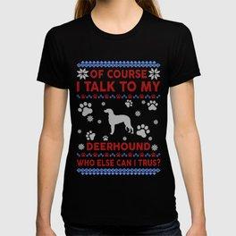 Deerhound Ugly Christmas Sweater T-shirt