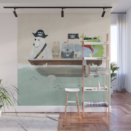 the pirate tub Wall Mural