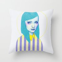 pastel Throw Pillows featuring Pastel by Natalie Foss