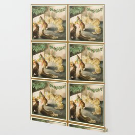 Beatrix Potter Christmas bunnies Wallpaper