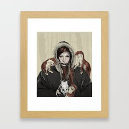 SKAÐI - Dweller of the Rocks Framed Art Print