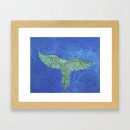 Sacred Hummingbird Framed Art Print