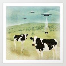 we all like burgers _ US AND THEM  Art Print