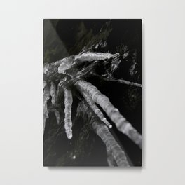 Icicle WaterFall Sculpture Metal Print