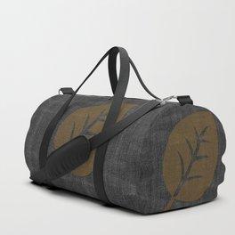 Giant Gold Leaf Black Denim Duffle Bag