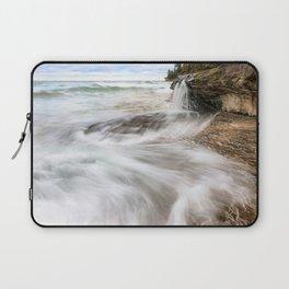 Elliot Falls on Miners Beach - Pictured Rocks, Michigan Laptop Sleeve