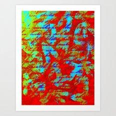 Design Delirium Red Art Print