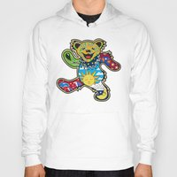 grateful dead Hoodies featuring Grateful Dead (Vector Art) by Troy Arthur Graphics