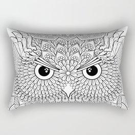 Color Your Own Owl Mandala Rectangular Pillow