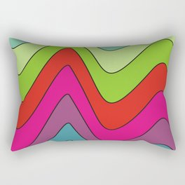 Colorful waves no.2 Rectangular Pillow