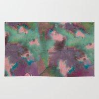 tie dye Area & Throw Rugs featuring Pink Tie-dye by Marcelo Romero