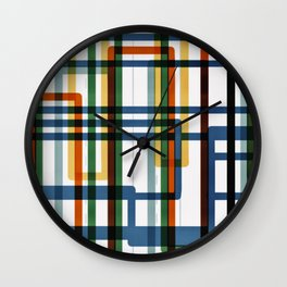 Abstract Lines - 5 Line Metro Map Wall Clock