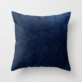 Royal Blue Velvet Texture Throw Pillow