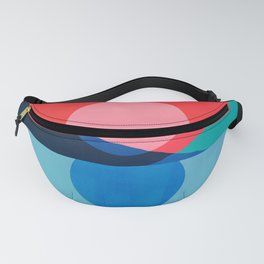 Abstraction_Mountains_SUNSET_Reflection Fanny Pack