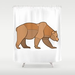 Shapely Brown Bear Shower Curtain