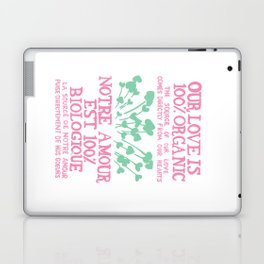 100% Organic Love pink Laptop & iPad Skin