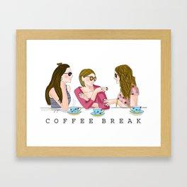 Coffee Break Framed Art Print