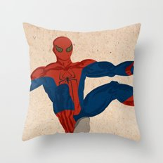 spiderman, spiderman does whatever a spider can Throw Pillow