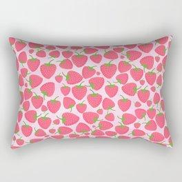 Strawberry Sweet Minis - Pink Rectangular Pillow