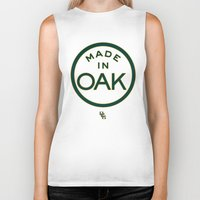 oakland Biker Tanks featuring Made in OAK - Oakland A's by DCMBR - December Creative Group