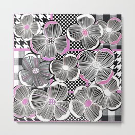 Pattern Play Petal Metal Print