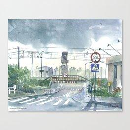Level crossing in Radomsk Canvas Print