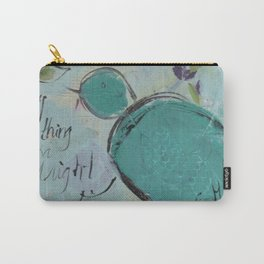 One blue bird Carry-All Pouch