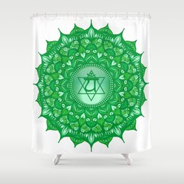 Heart Mandala Chakra #06 Shower Curtain