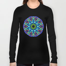 mandala Color curls. Long Sleeve T-shirt