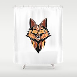 Abstract Fox Shower Curtain