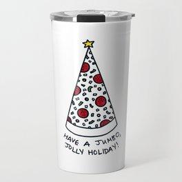Christmas Tree Pizza Travel Mug