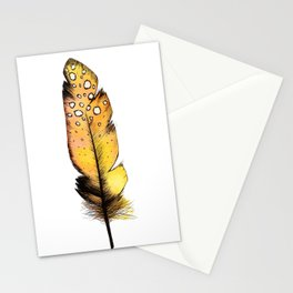 Orange Feather Stationery Cards